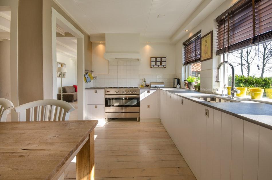 Zones dans une cuisine